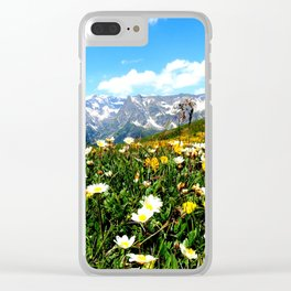 Summer in the Alps Clear iPhone Case