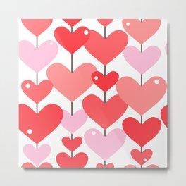 Heart Pattern 04 Metal Print