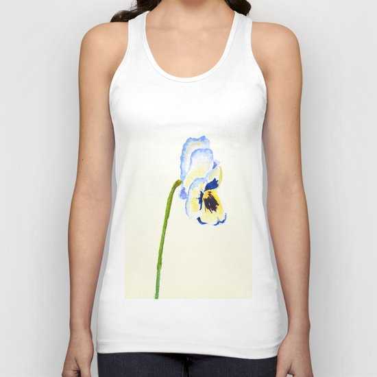 one  pansy Unisex Tank Top