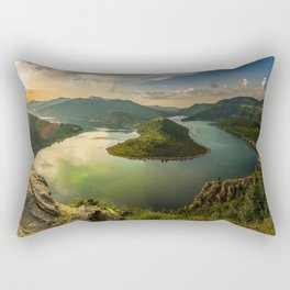 rodopi mountains turn river arda river dawn bulgaria Rectangular Pillow