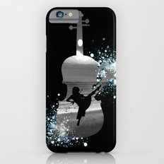 Let The Music Play - Black and White iPhone 6s Slim Case