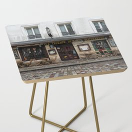Cafe in Monmartre Paris Side Table