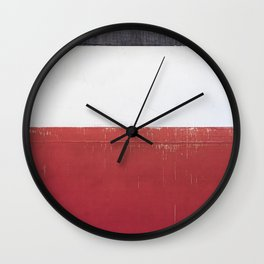 Black White Red 01 Wall Clock