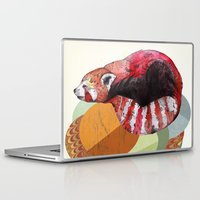 card Laptop & iPad Skins featuring Red Panda by Sandra Dieckmann