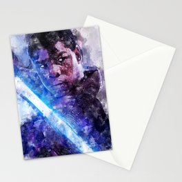 StarWars Finn Watercolor Wall Art Print, Poster, Movie Art, The Last Jedi and The Force Awakens Stationery Cards