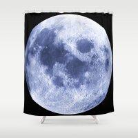 luna Shower Curtains featuring Luna by Tobias Bowman