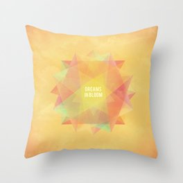 Dreams in bloom Throw Pillow