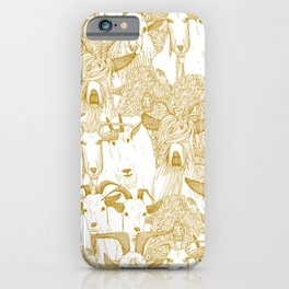 just goats gold iPhone Case