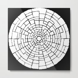 Inverted Cicle Wall Metal Print