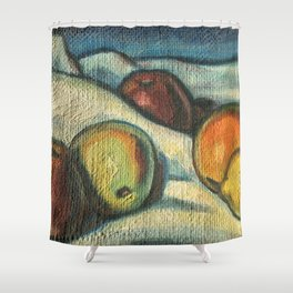 Fruit oil painting Shower Curtain