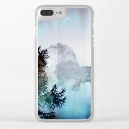 Boreal Lights on the Mountains Clear iPhone Case