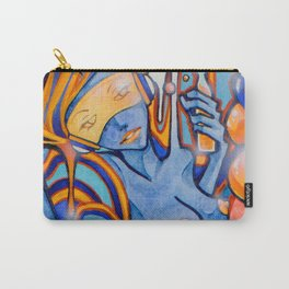 Blue-Orange Carry-All Pouch