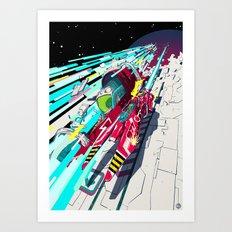 Faster than GAME OVER v1.0 +ART PRINT DESIGN+ Art Print