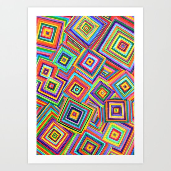 infinite square Art Print