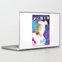 posters Laptop & iPad Skins featuring Paris Posters - Hermez by G_Stevenson