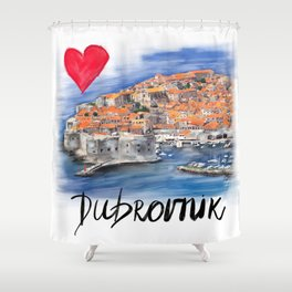I love Dubrovnik Shower Curtain