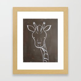 No. 004 - The Giraffe (Modern Kids & Nursery Art) Framed Art Print
