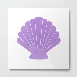 Seashell (Lavender & White) Metal Print