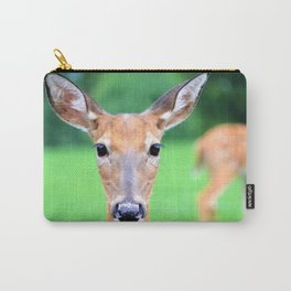 Big Brown Eyes   Deer Carry-All Pouch