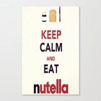 nutella Canvas Prints featuring Nutella by Iotara