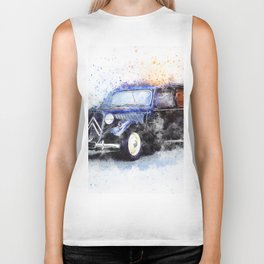 Car Black Oldtimer Biker Tank