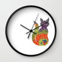 wonderland Wall Clocks featuring Wonderland by Heather Searles