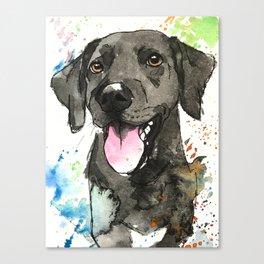 Black Labrador Retriever Artwork Canvas Print