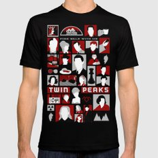 Twin Peaks Variant SMALL Black Mens Fitted Tee
