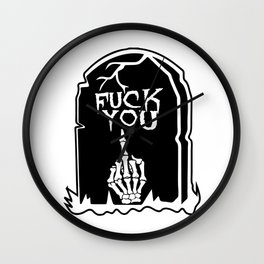 Mean Grave Wall Clock