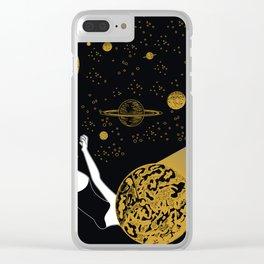 meteor crash Clear iPhone Case