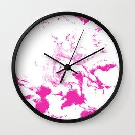 Marble Suminagashi watercolor pattern art pisces water wave ocean minimal design Wall Clock