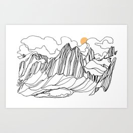 Snowpatch and the Col :: Bugaboos Art Print