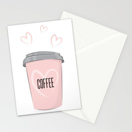 Coffee is my love Stationery Cards