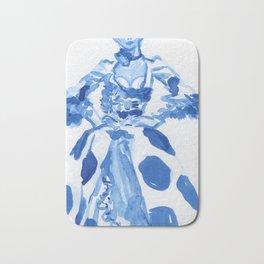 1792 a la campgne -blue ink fashion illustration Bath Mat