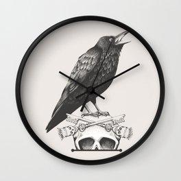 Black Crow & Skull Wall Clock