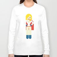 girl power Long Sleeve T-shirts featuring Power Girl by Marco Recuero