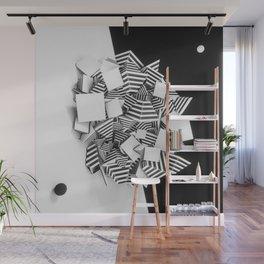 Abstract Pyramid 3D Illustration Wall Mural