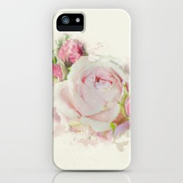 Watercolor Pink Rose iPhone Case
