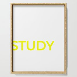 Student Study College Product, School Library Nerd Graphic Serving Tray