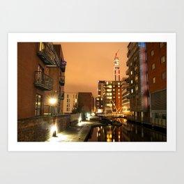 Birmingham and Fazeley Canal At Fleet Street Art Print