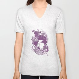 Hoops and grapes  Unisex V-Neck