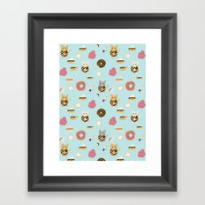 Donut Cat Framed Art Print