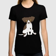 Dave the Dog Womens Fitted Tee LARGE Black