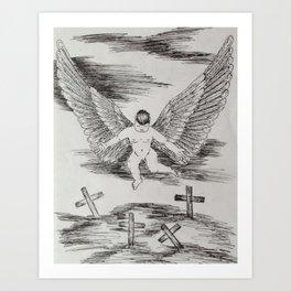 Cemetery Angel Art Print