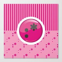 Pink Writer's Mood Canvas Print