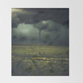 Tornado Coming (Color) Throw Blanket