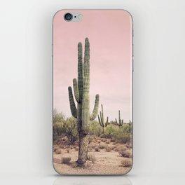 Blush Sky Cactus iPhone Skin