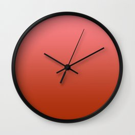 Pastel Red to Red Horizontal Linear Gradient Wall Clock