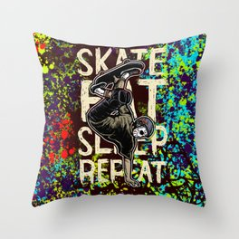 Skate Throw Pillow