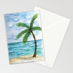 watercolor palm Stationery Cards